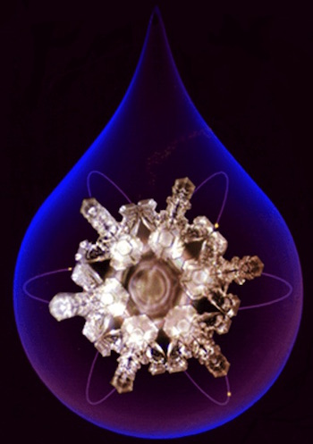Dr. Masaru Emoto hand delivered lab-created photos of our structured water revealing stunning water crystals