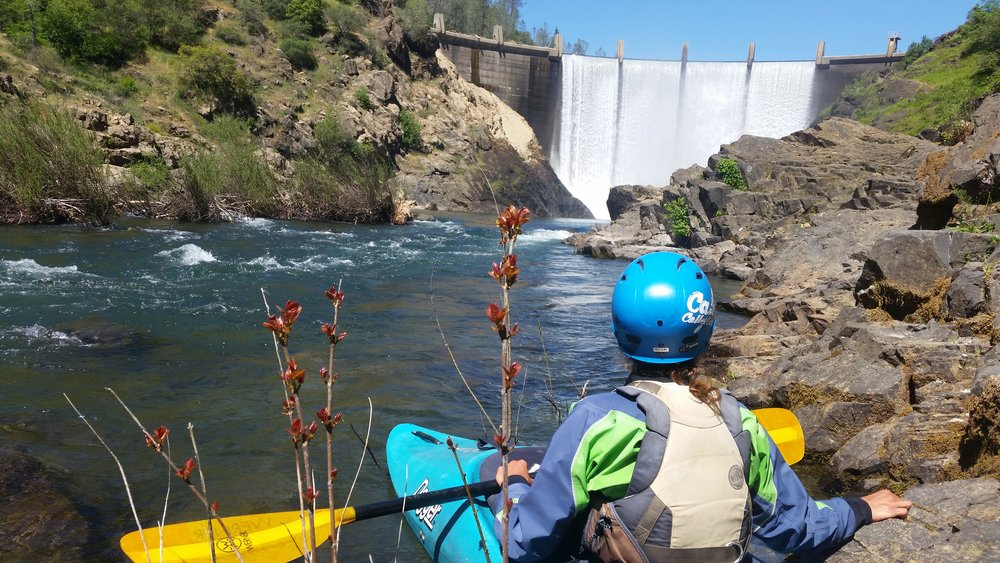 Sarita at the put-in on the North Fork American River