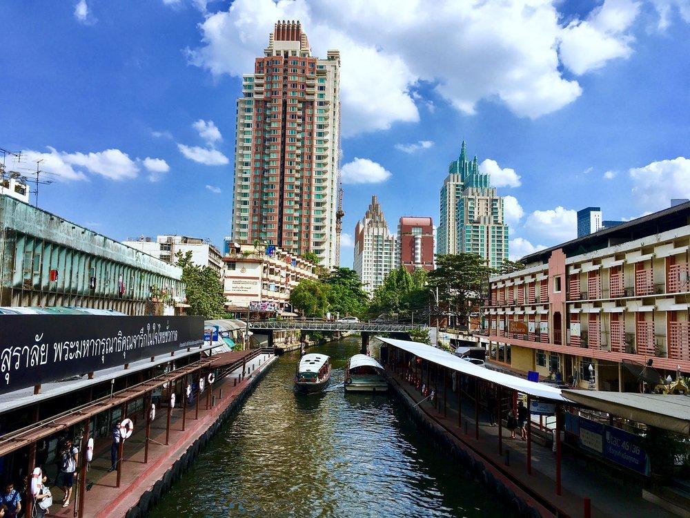 wellness bridge bangkok thailand water road