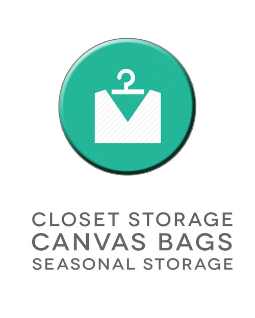 Over Wardrobe Storage closet storage bags- set of 4 eco canvas bags. protect your