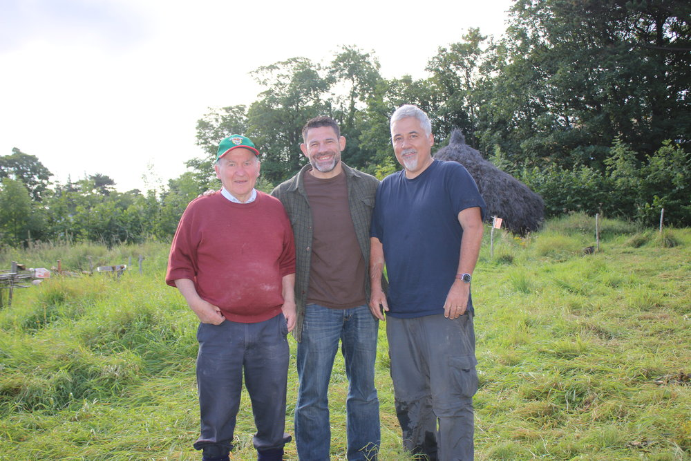 Dr. Seamus Caulfield, Dr. Bill Schindler and Dr. Aidan O'Sullivan ready to address the UCD experiemental archaeology class