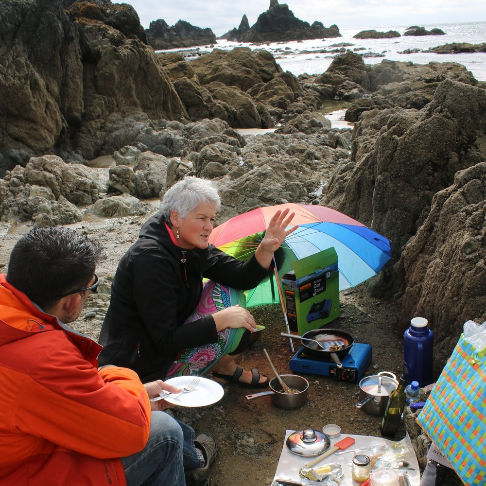Discussing culinary uses of seaweed