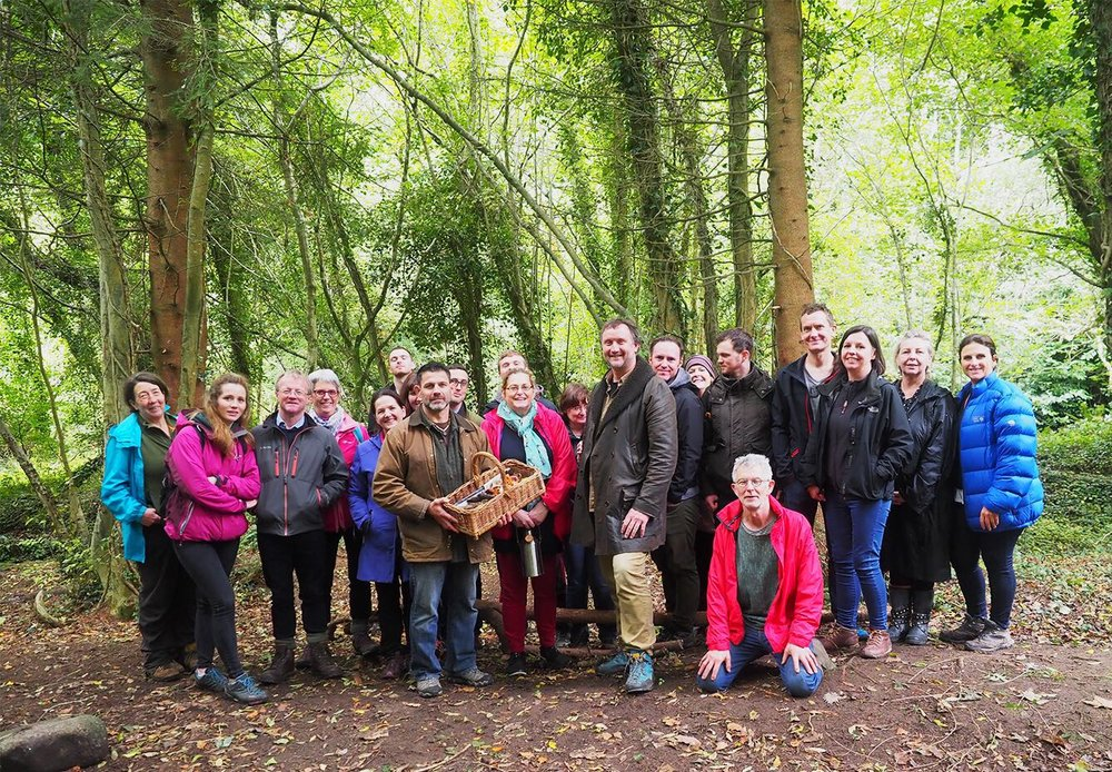 Dr Bill Schinder & Chef Kevin Thornton with the 1st Wild Food Outings group