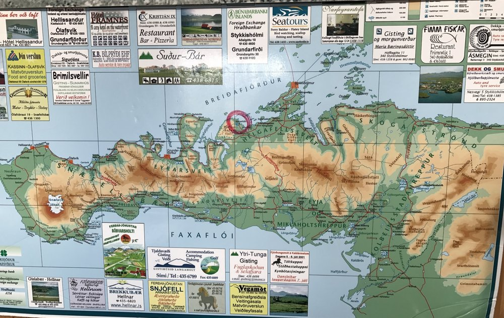 The Shark Museum is circled in red on this visitor's map.