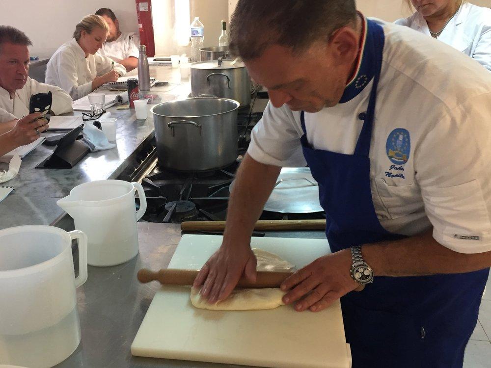 Chef John making cheese
