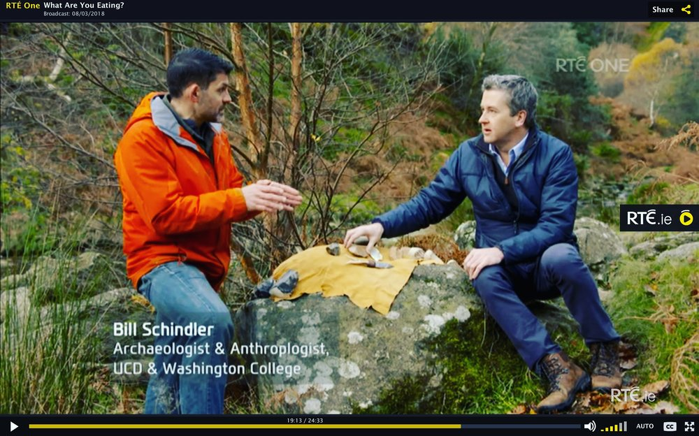 Dr Bill Schindler sharing his knowledge about ancestral diets on RTE's Show, What Are You Eating.
