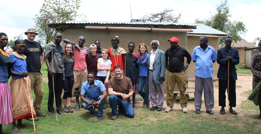 A picture with the village elders before we left to meet a tribe in the Low Lands of West Pokot
