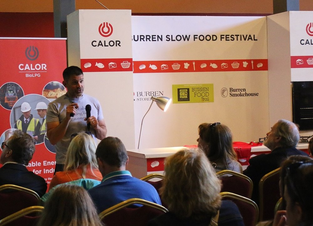 Presenting at Slow Food
