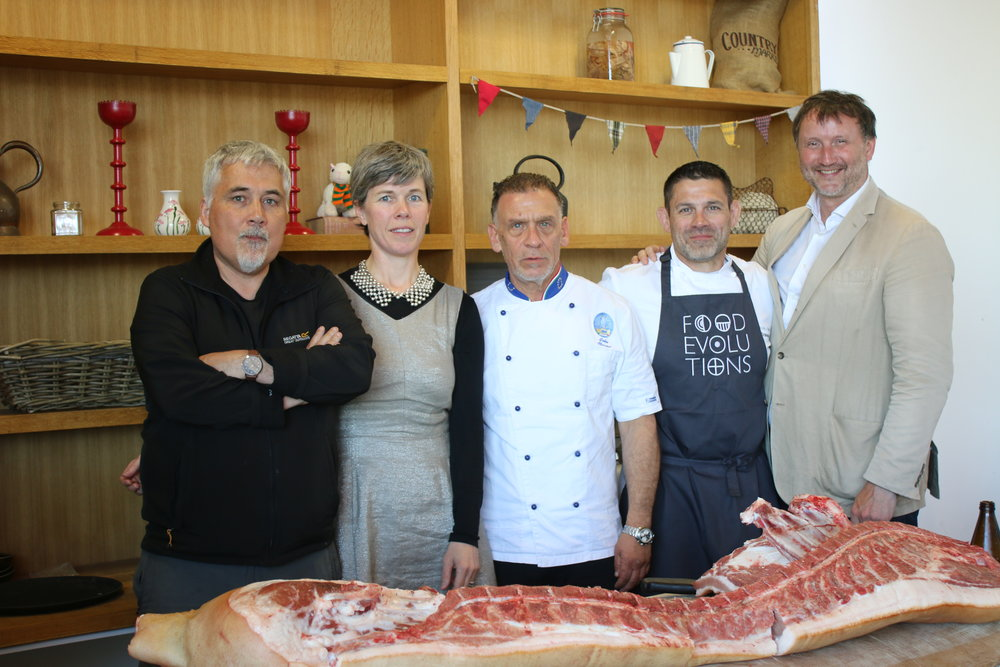 Dr. Aidan O'Sullivan (University College of Dublin), Ms. Grainne Kelligher (Airfield Estate), Chef John Nocita (Italian Culinary Institute), Dr. Bill Schindler (Washington College) and Mr. Jason O'Brien (Odaios Foods)