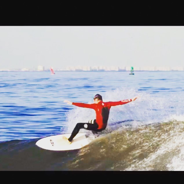Our surf instructor @gdeg123 being #boss  #surfshop #seabright #jerseyshore #surfer @luckydogsurf