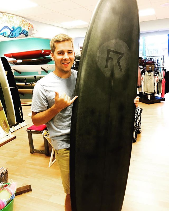 "Ohh fierce as hell @fluidride 7'2"" single fin! new @fluidride just in this morning! Check it!!! #surfshop #seabright #jerseyshore #localshaper"