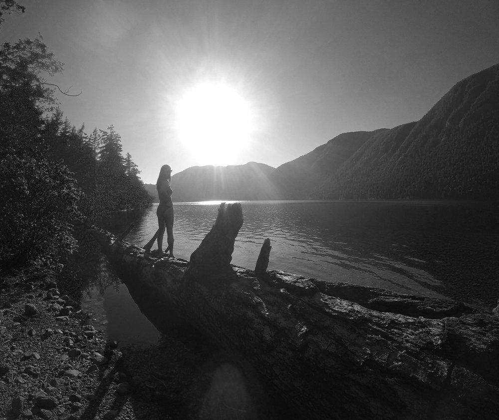 Chloe Johnson at Cameron Lake, BC