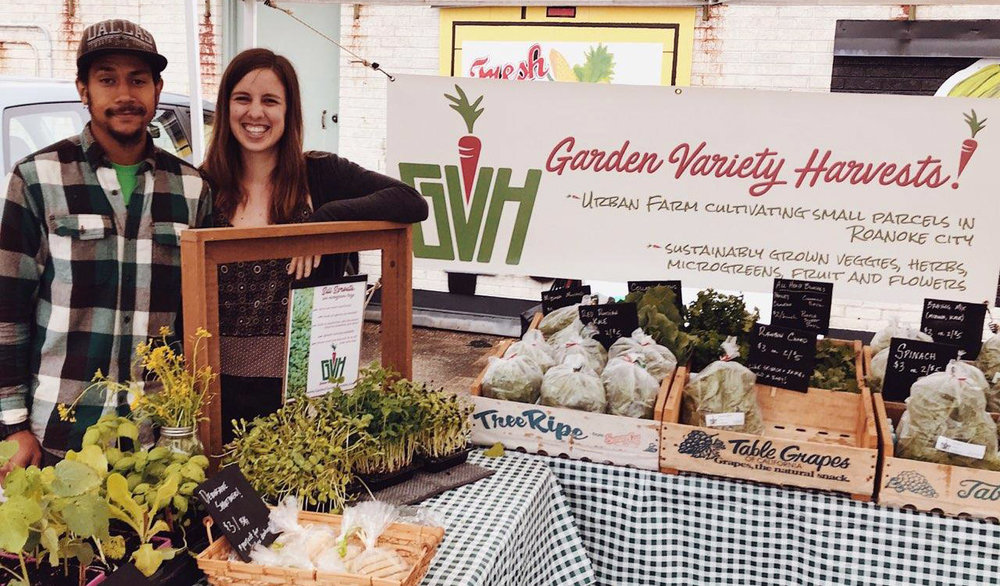 Garden Variety Harvests' first ever farmers market!