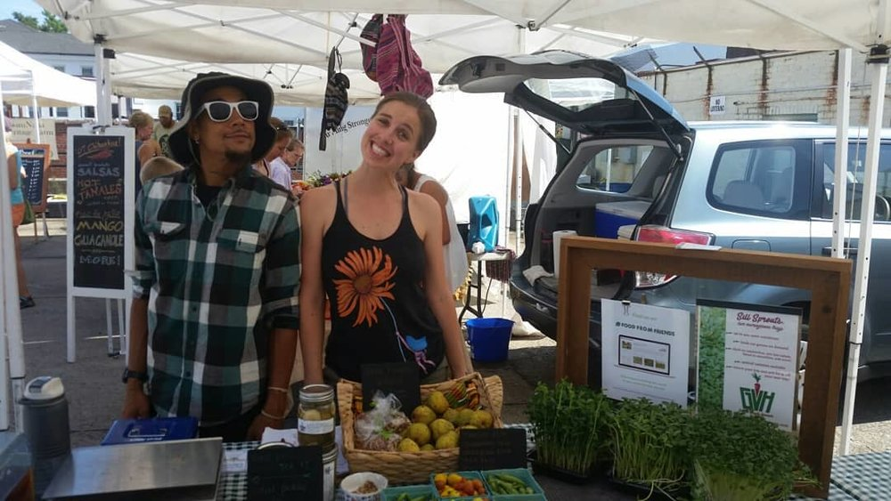 Sell your excess produce through the farmers market!