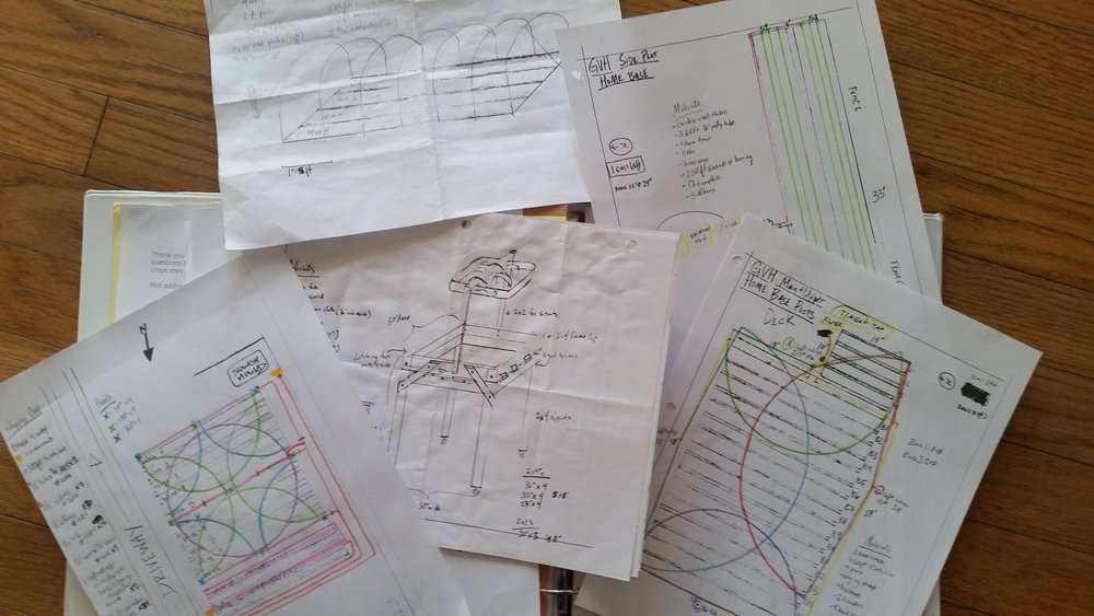 Let us handle blueprints for layout, irrigation and more.