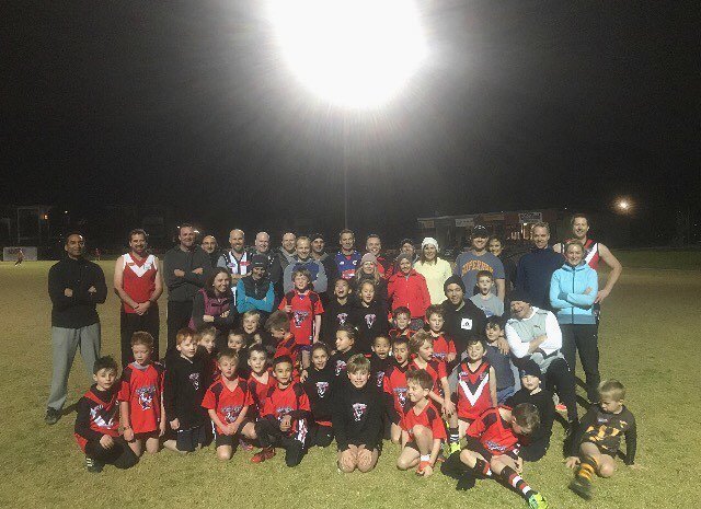 One big happy Panther Family! Our superstar U9's joined up with there parents tonight for our last training session of 2017 and what a night it was down at PantherLand! A lot of fun had with the U9's beating the Parents in a match to finish the night off! Come down this Sunday @ 8.30am for the last game of the season against Coburg FC @ Walter St Reserve to celebrate a fantastic first season and the rebirth of the Ascot Vale Football Club!#ParentsPlayersTraining #PantherLand 🔴⚪️⚫️🔴⚪️⚫️🔴⚪️⚫️🔴⚪️⚫️🔴⚪️