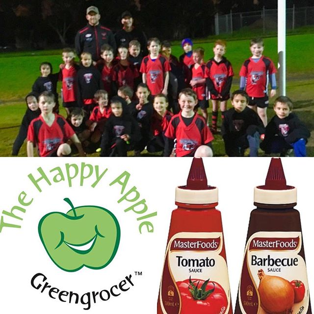Massive thanks to all that made our first Panther pie night a huge success. 👏 Yummy @nationalpies were generously provided by @thehappyapplegreengrocer and sauces donated by @masterfoods THANK YOU!!! 🙌  Please show your support to companies that help our great club! The Happy Apple have the no.1 oranges for footy half time breaks 🍊😄 All money raised from tonight goes towards the under 9 team's presentation night.  Thanks for your family's ongoing support.