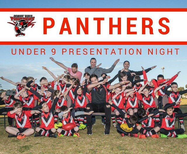 Tonight the Ascot Vale Panthers celebrate the success of our under 9's 2017 revival and look to forward to continued and expansion in 2018. Sincere thanks to our major sponsors Portelli Painting & Maintenance and @raineandhorneascotvale. Thanks also to all of those that have supported us this year, @pacinositalianrestaurant, @thehappyapple, @markdadswellphotography, @strikebowlinghighpoint, @thepancakeparlour Highpoint, @hogsbreath  Highpoint.  Their help has given our kids a fantastic start to their footy careers! Please show your support for these businesses in return.