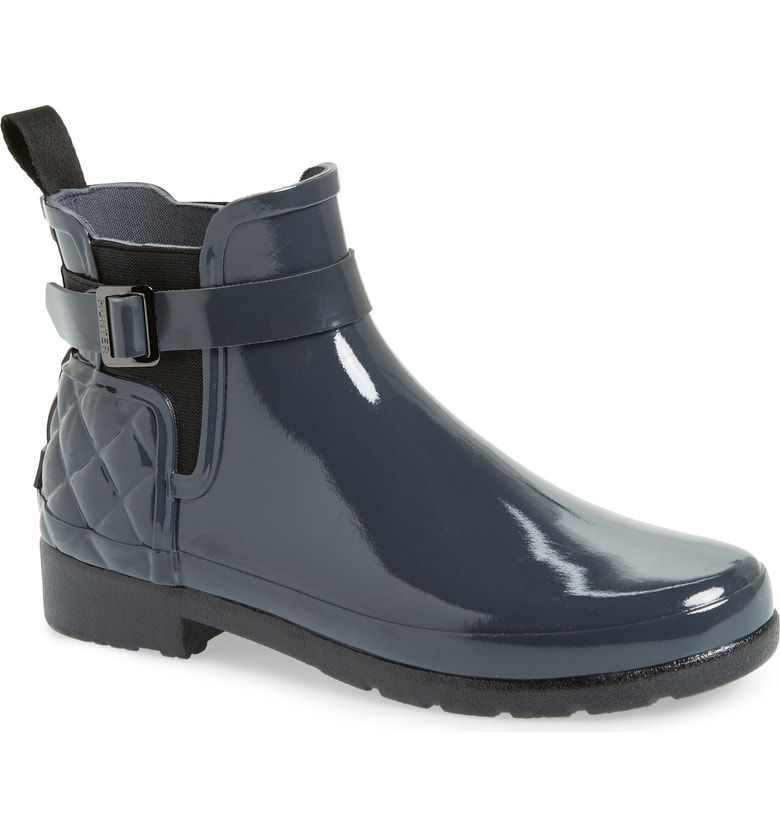 HUNTER Original Refined Quilted Gloss Chelsea Boot, Sale: $99-$155