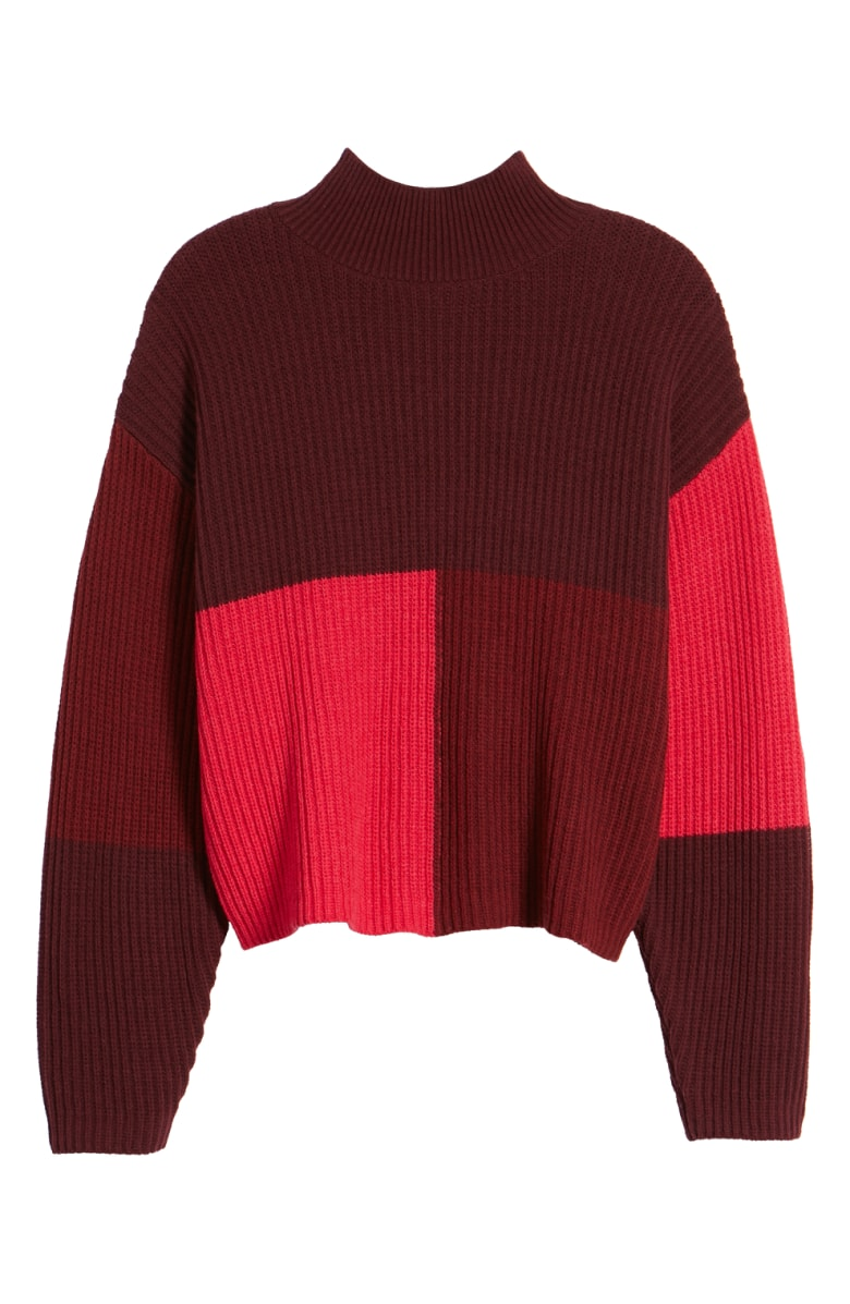 BP. Mock Neck Color Block Sweater, Sale: $31.90 // Post Sale: $49