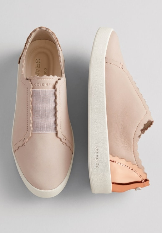 Cole Haan GrandPro Spectator Scalloped Slip-On Sneaker, Sale: $99.90 // Post Sale: $150