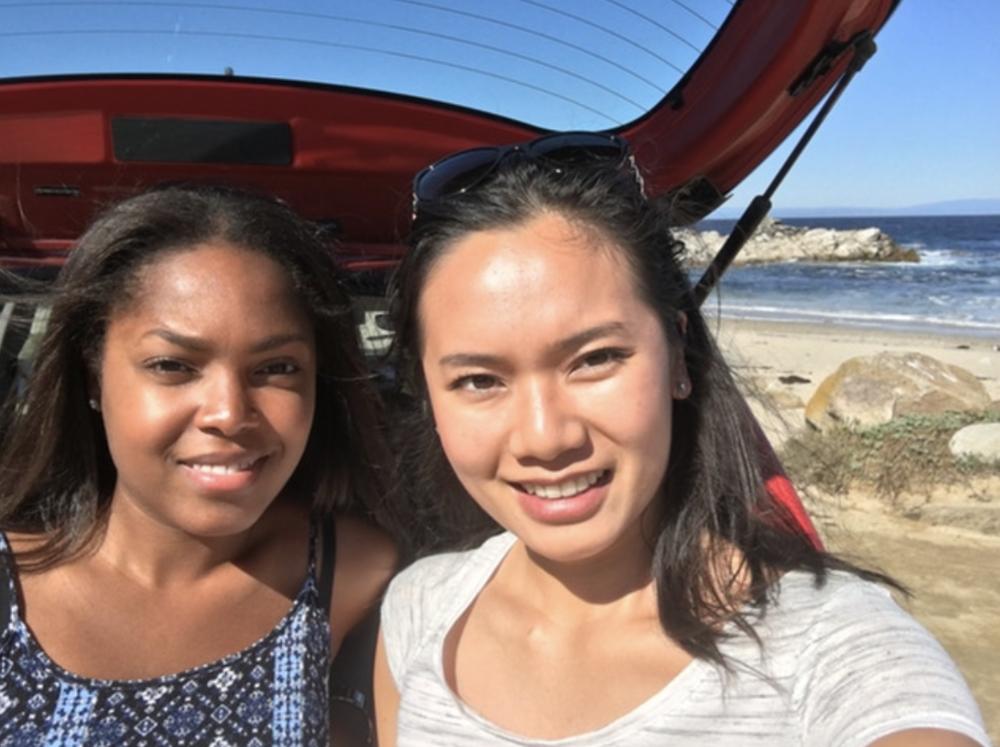 Jo & Jen With Our Mini Toyota Yaris Rental Car