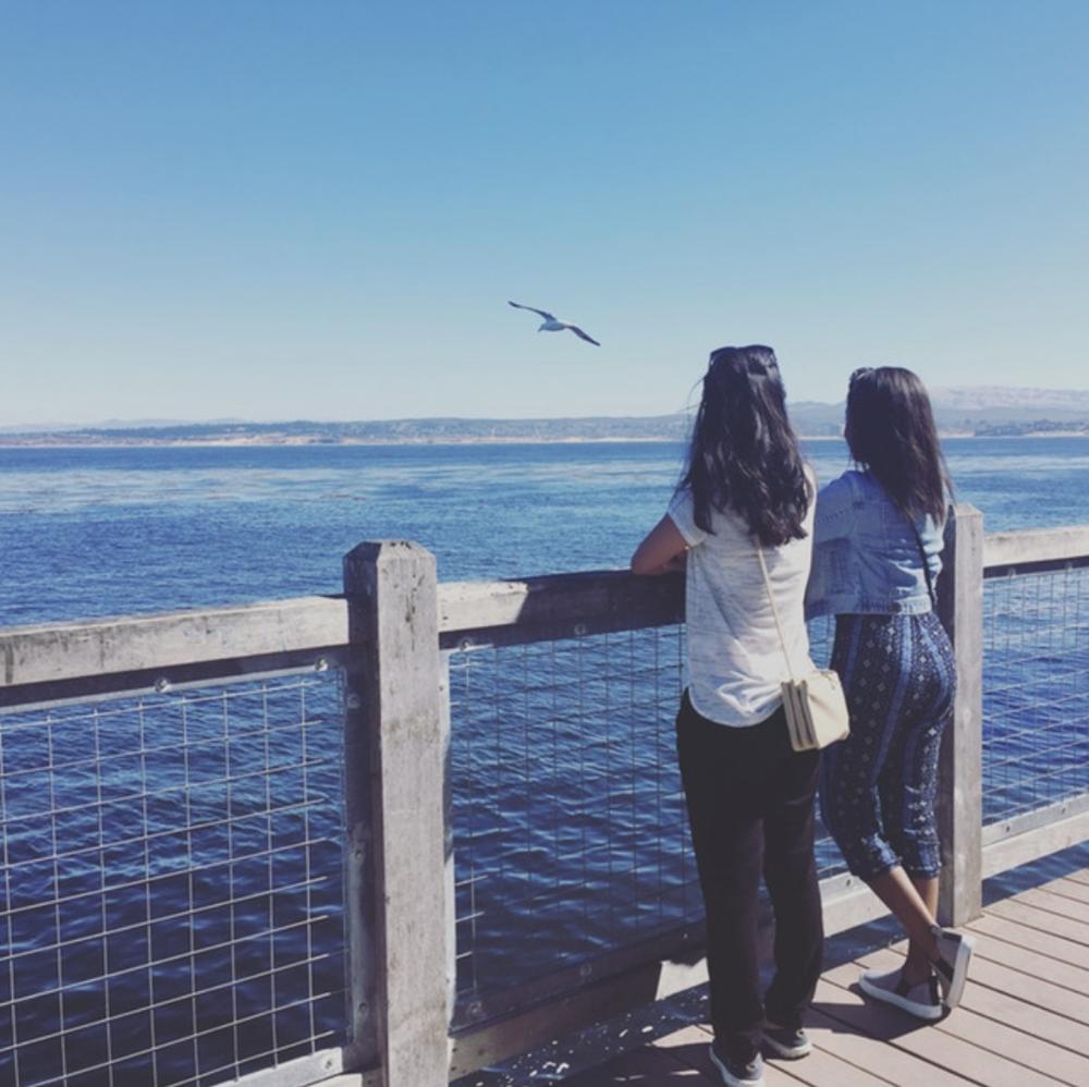 Jo & Jen in Monterey at Cannery Row