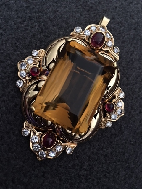 Citrine Pin/Pendant