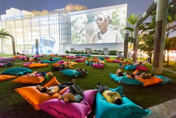 Host an open air cinema - Image via Pinterest