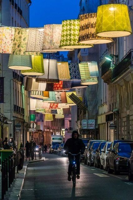 Light-up the laneways with lampshades - Image via Pinterest