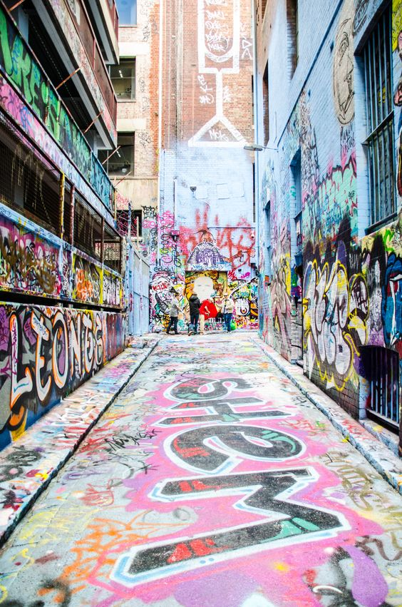 Create a graffiti safe-zone or start a street art festival - Image via Pinterest