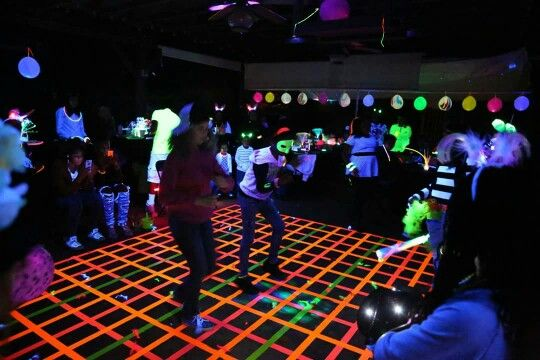 Host a glow-in-the-dark block party -