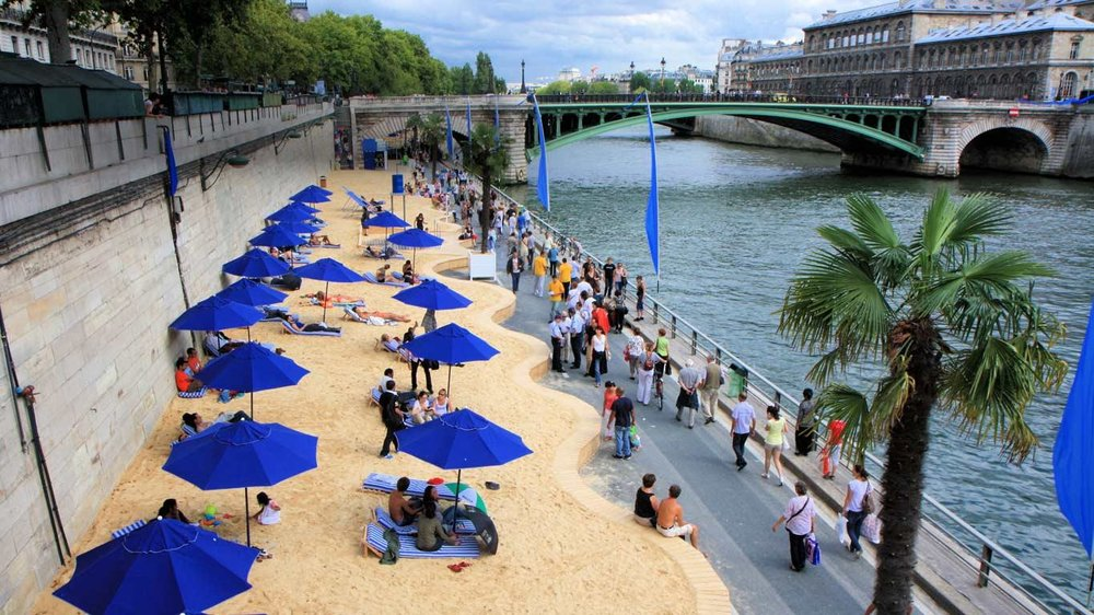 Transform a carpark into a beach - Image via Pinterest