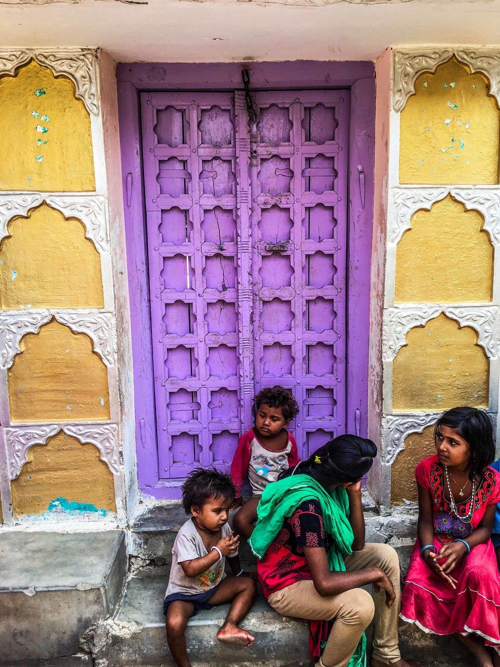 The door to village home