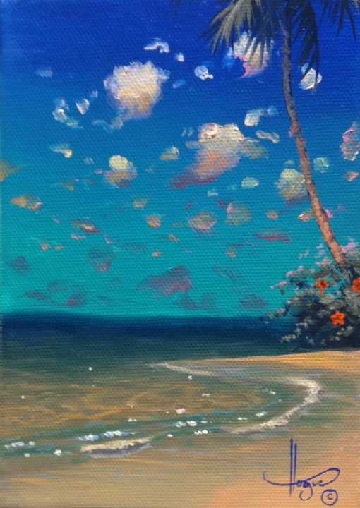 """Mystical Paradise"" 5x7 oil"