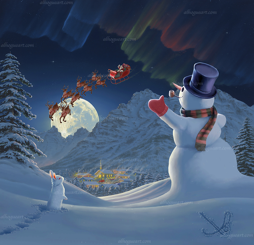 """""""Christmas Eve""""  PP 18X18 giclee         50 SN 27X27 giclee       140 MC 34X34 giclee        75  Total                 265"""