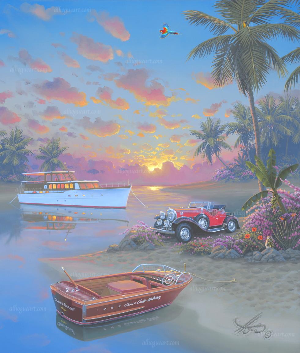 """Classic Sunset""  PP 16X20 giclee         50  AC 20X24 giclee         50 SN 24X30 giclee        140  MC 30X37.5 giclee       75  Total                 315"