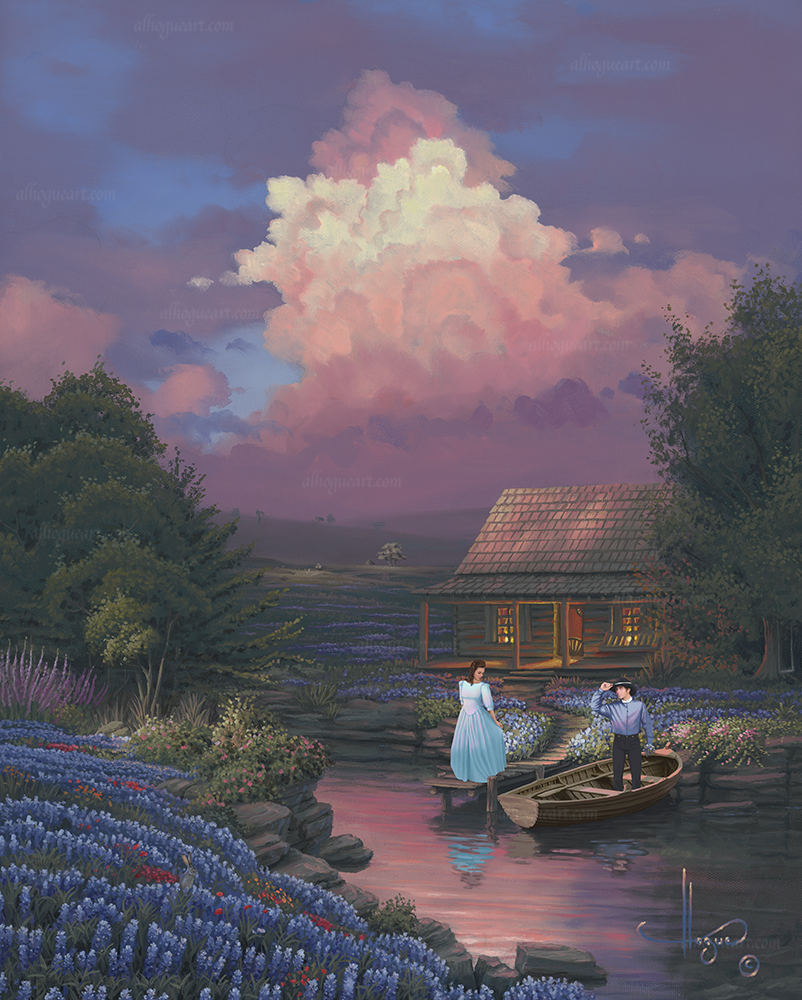 """Country Courting""  PP 16X20 giclee 50 AC 20X24 giclee 50 SN 24X30 giclee 140 MC 30X37.5 75 Total 315"