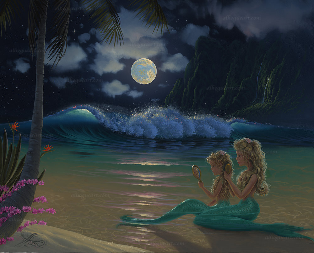 """Mermaids""  PP 16X20 giclee        100  AC 19X24 giclee        140 SN 24X30 giclee        120  Total                 460"