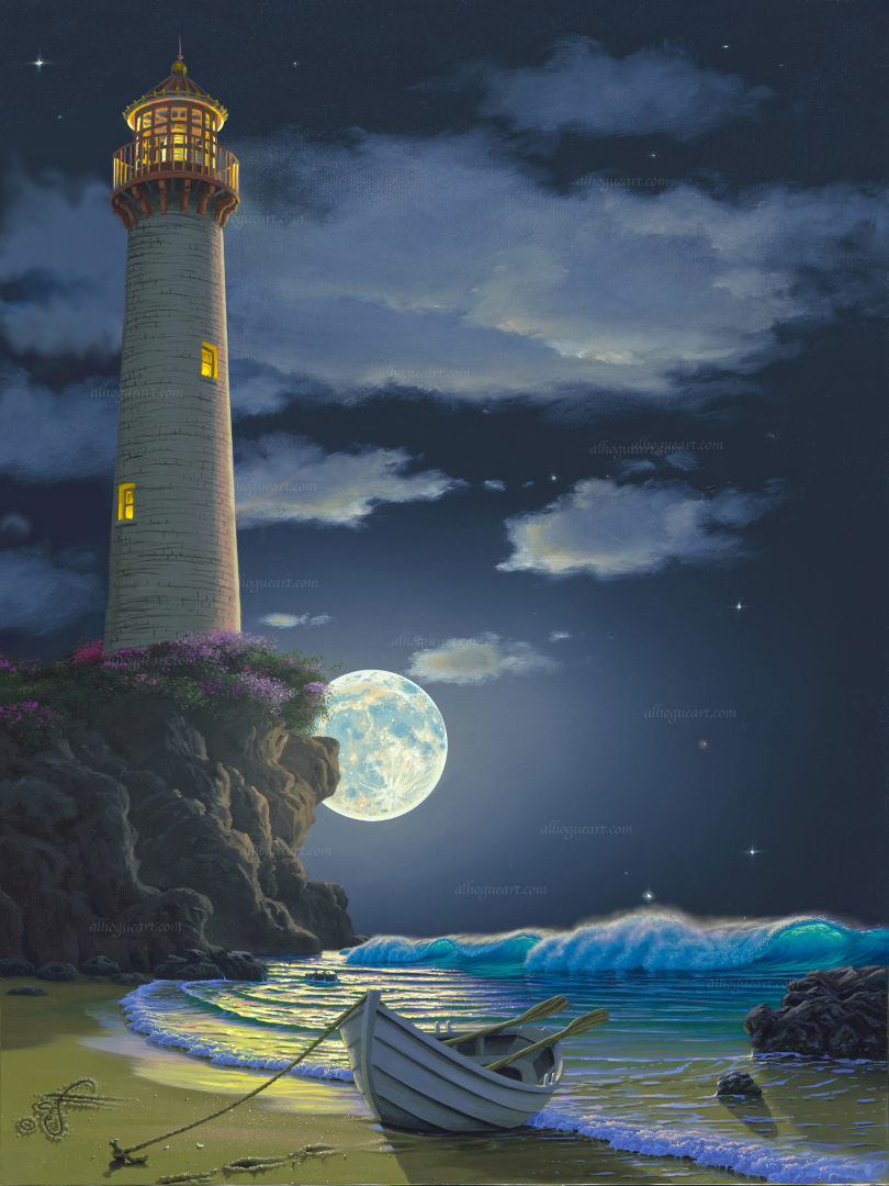 """Refuge Light""  PP 16X20 giclee 50 AC 19X24 giclee 50 SN 24X30 giclee 140 MC 30X37.5 giclee 75 Total 315"