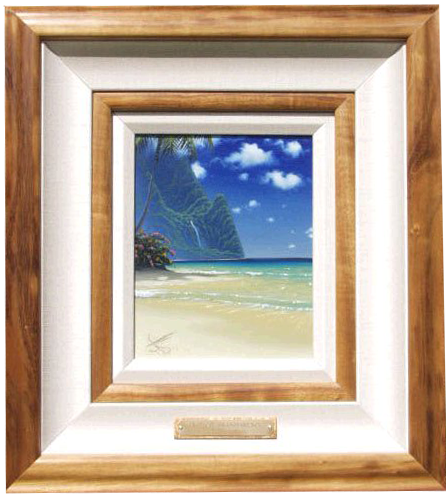 """Tropical Transparency"" 8x10 oil in the privet collection of the Nishi family"