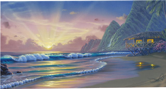 """Island Hideaway"" 12x24 oil in privet collection"