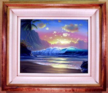 """Hawaiian Surf""16x20 oil in privet collection"