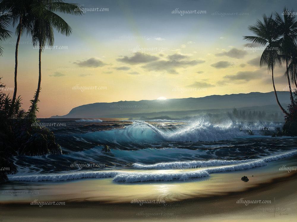 """""""Waialua Daybreak""""  Available on limited edition Giclee on canvas"""