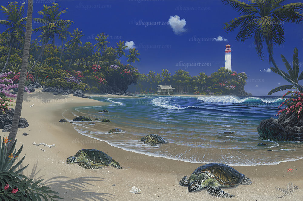 """Turtle Bay""Available on limited edition Giclee on canvas"
