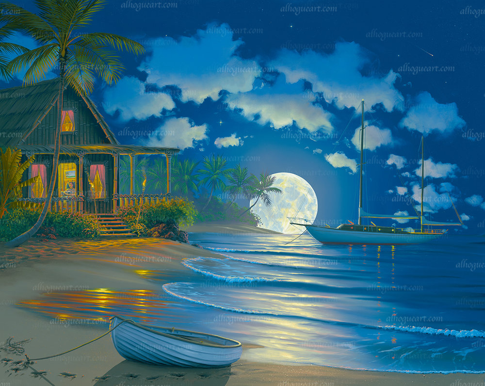 """""""South Seas Paradise""""  Available on limited edition Giclee on canvas"""