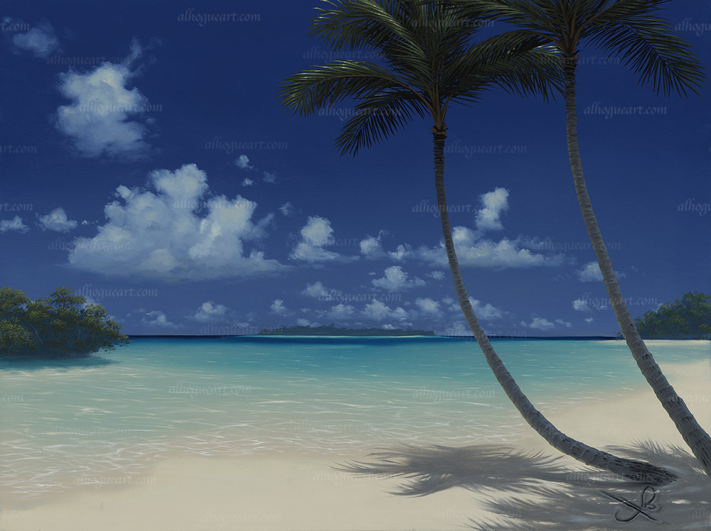 """Paradise Beach""  Available on limited edition Giclee on canvas"