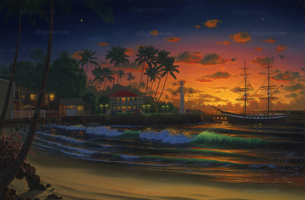 """Lahaina Twilight""  Available on limited edition Giclee on canvas"