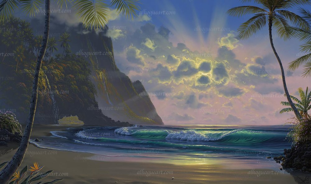 """""""Heaven's Light""""  Available on limited edition Giclee on canvas"""