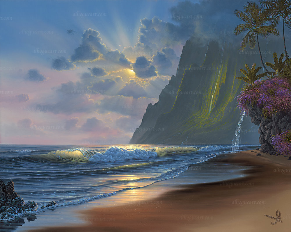 """""""Dawn of A New Day""""  Available on limited edition Giclee on canvas"""